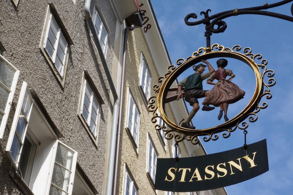 Getreidegasse Salzburg Oostenrijk