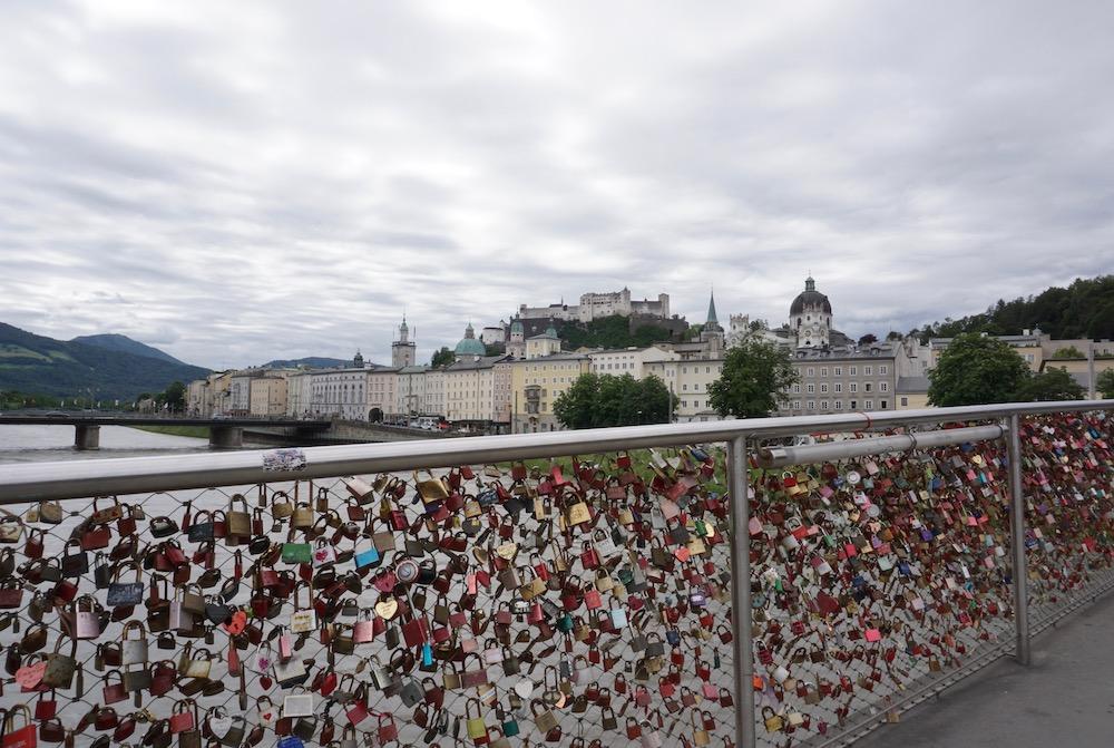 Makartsteg brug Salzburg Oostenrijk