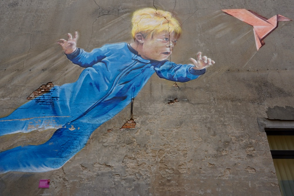 Will to Fly Smok street art Antwerpen Berchem België