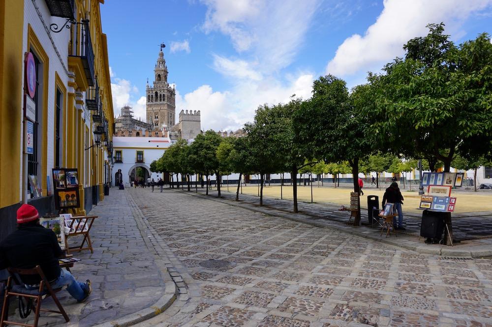 Stedentrip in de herfst Sevilla Spanje