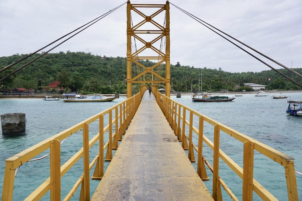 Suspension Bridge Nusa Ceningan Indonesië