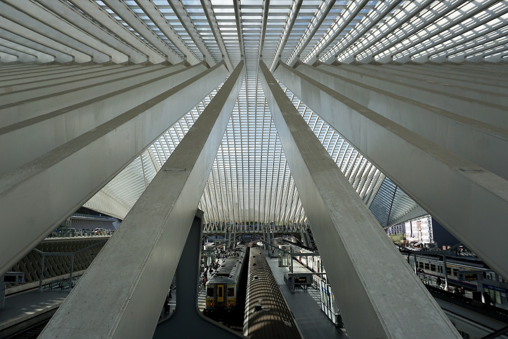 Treinstation Luik-Guillemins België