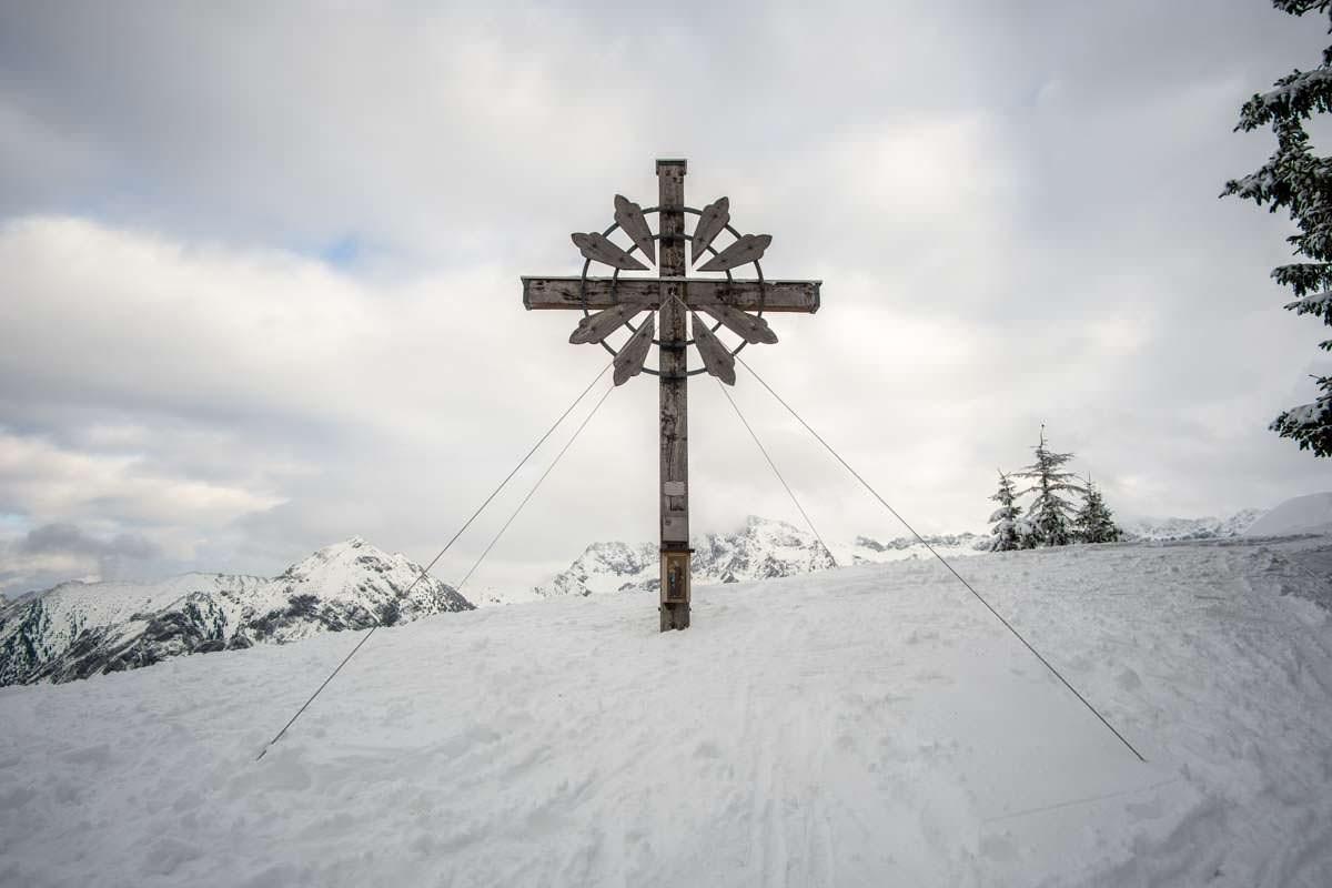 Gipfel vom Sonnenkopf im Allgäu