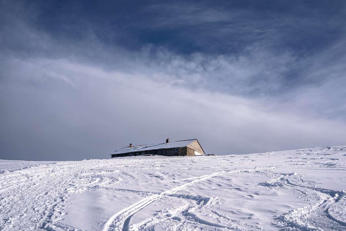 Grüntenhütte im Winter