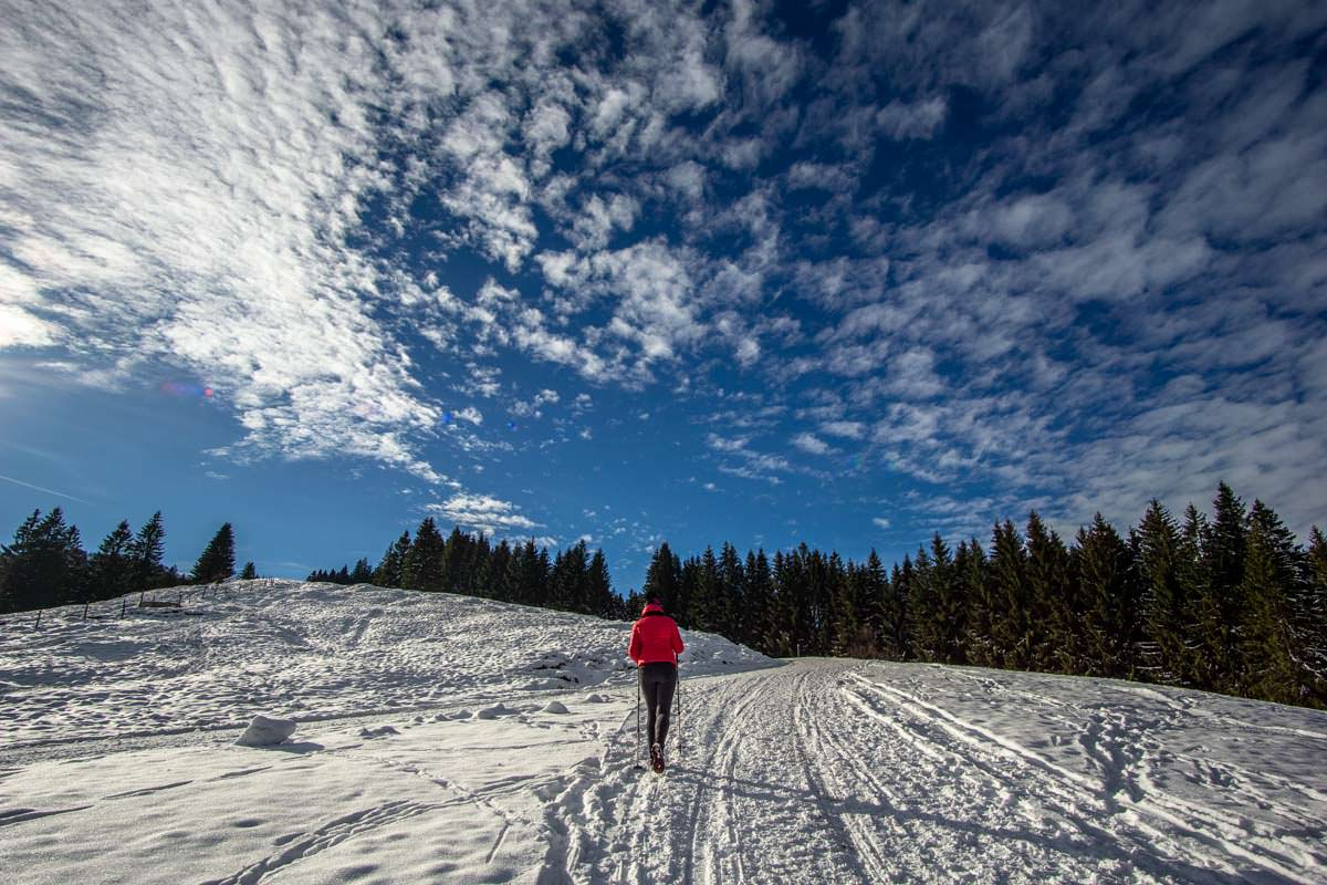 Der längste gewalzte Winterwanderweg im Allgäu