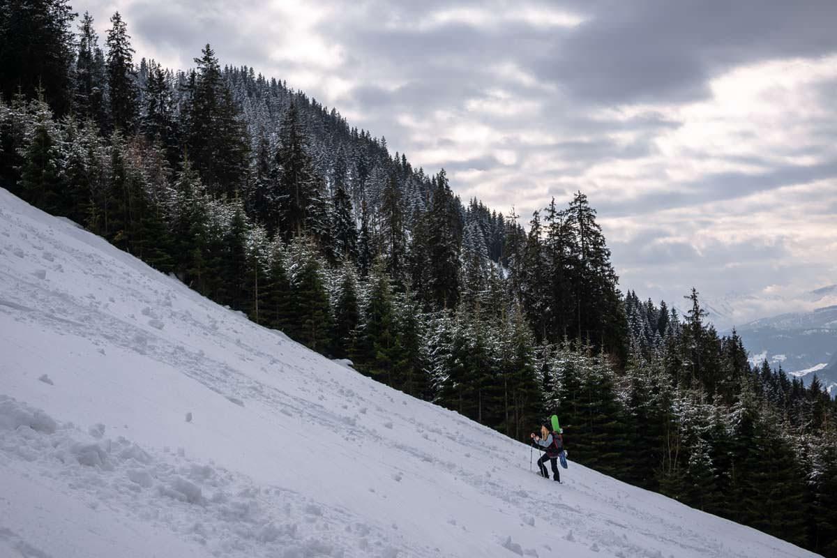 Snowboardtour am Sonnenkopf im Allgäu