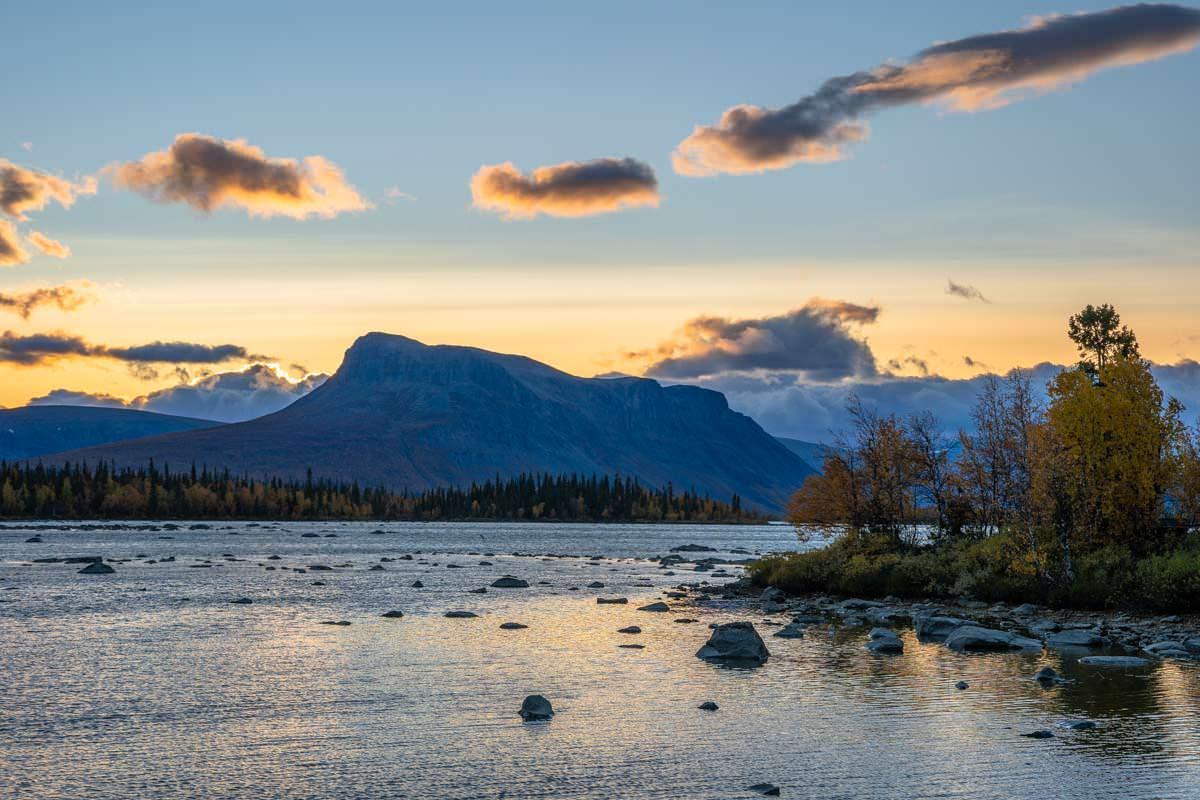 Laitaure See im Herbst