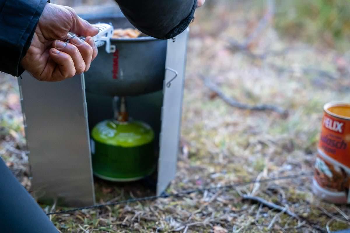 Kochen beim Trekking in Schweden
