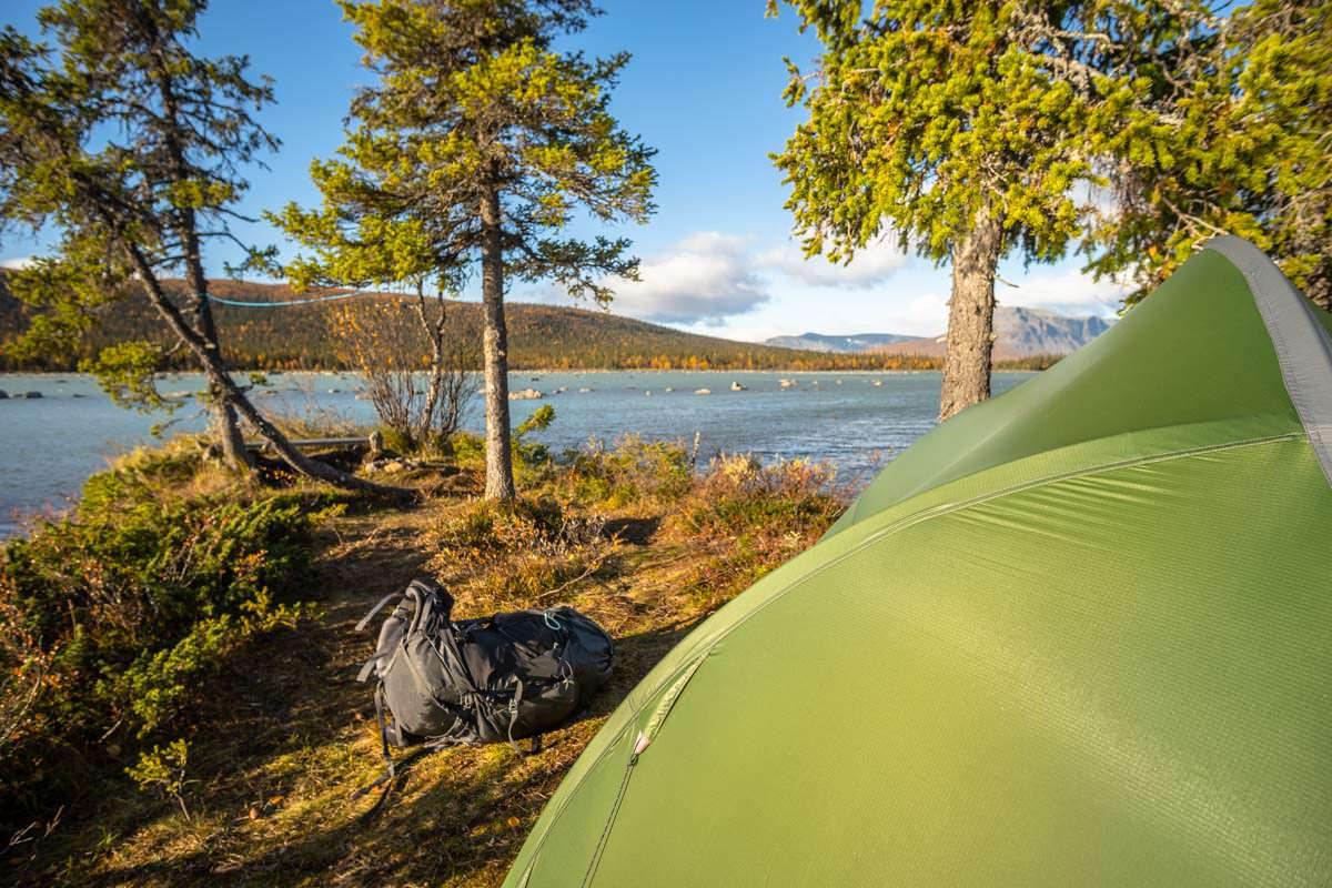 Wildcamping am Laitaure See (Cykelstigen)