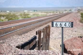 Chemin de fer le long de la Route 66