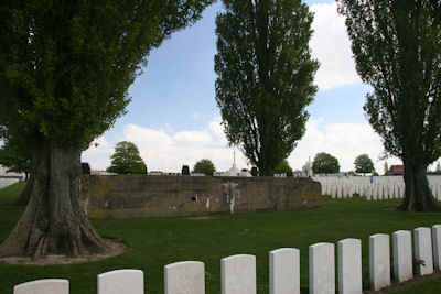 German Bunker at Tyne Cot Cemetery