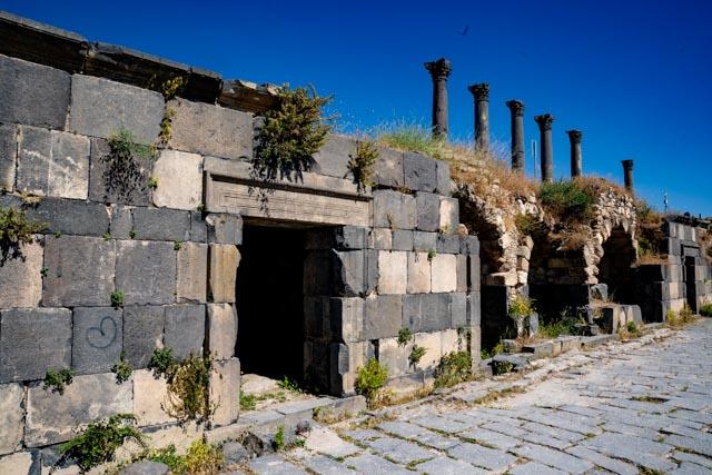Ruins of ancient Gadara at Umm Qais, Jordan