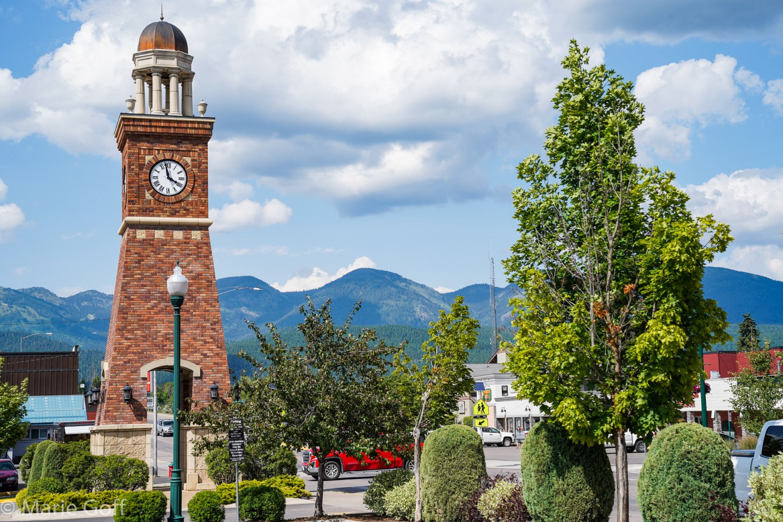 Clock Tower at Whitefish Montana