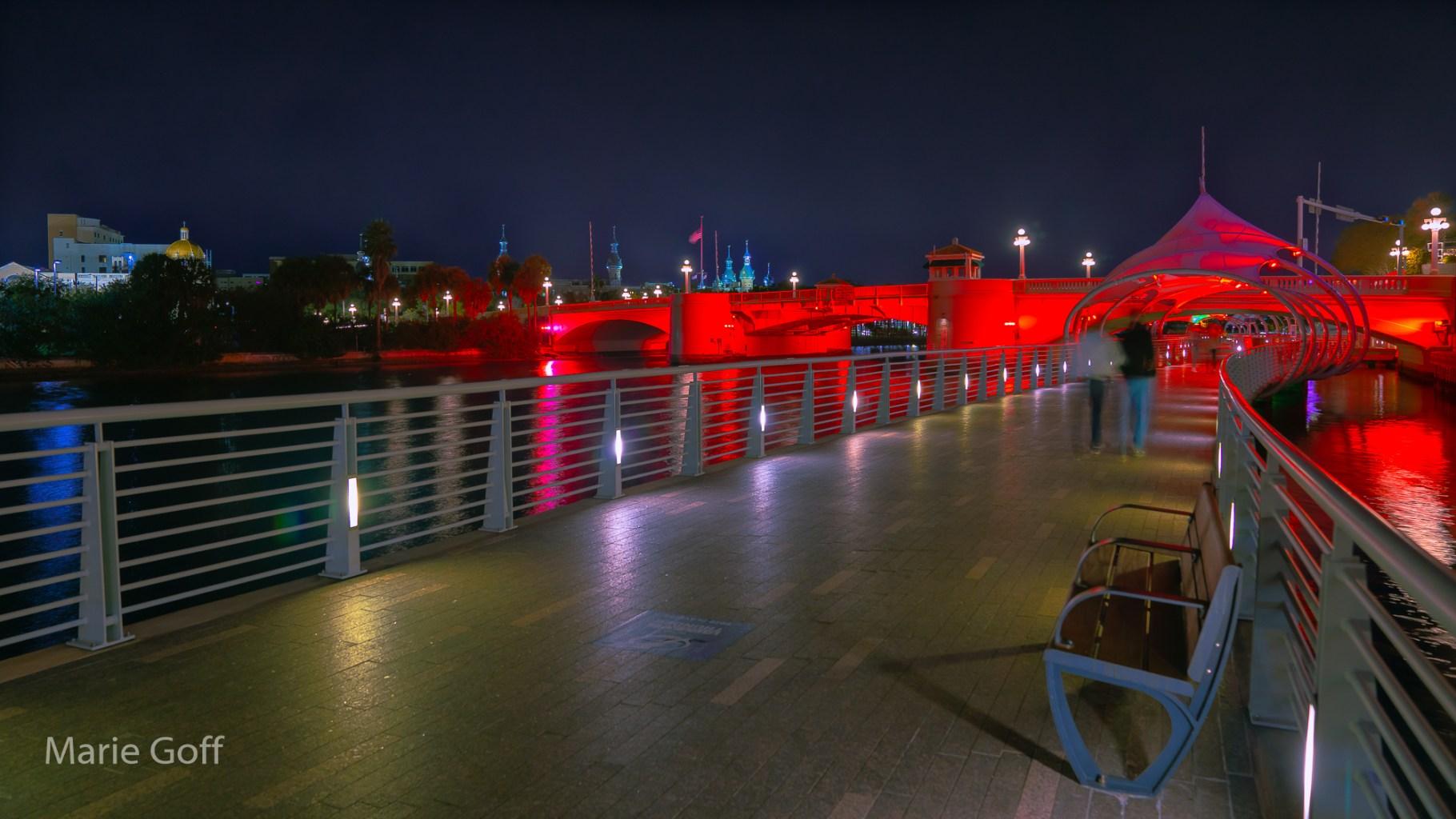 Tampa Riverwalk at Christmas