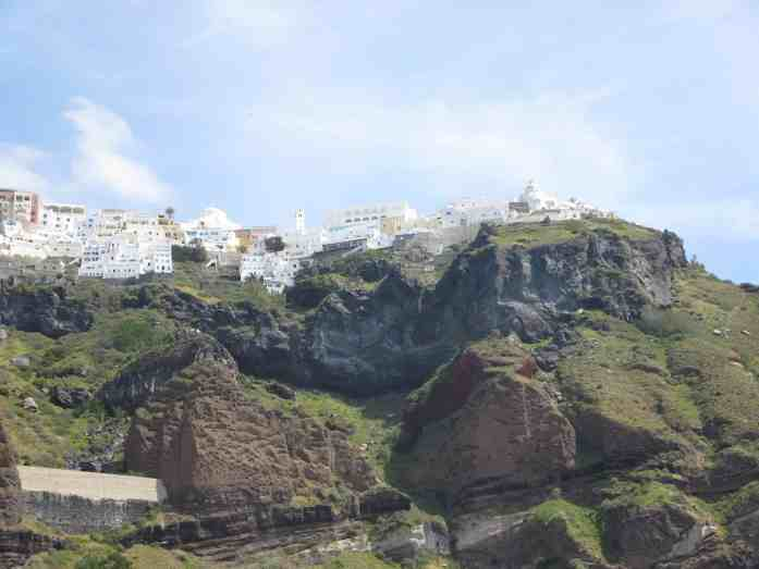 white houses on top of a mountain