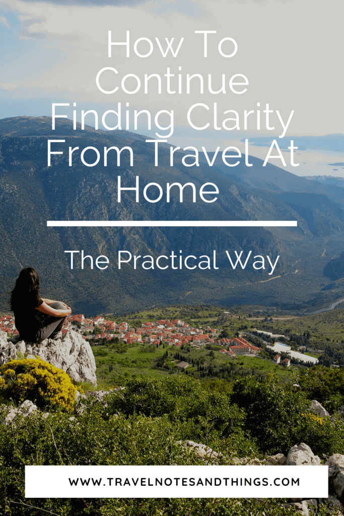 Travel gives us clarity for the ideas and thoughts we've had in our minds, the inspiration, and the push needed to finally go after our dreams. Read here how you can find this for yourself when you come back after travel.