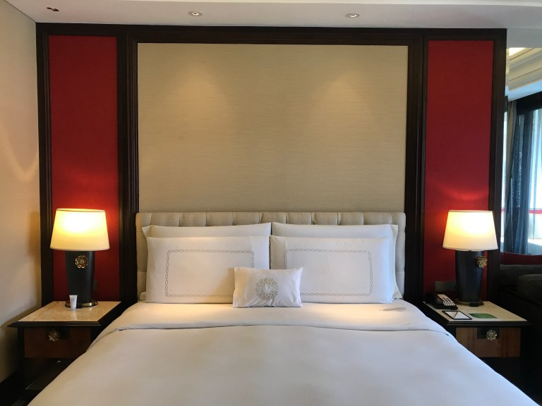permier suite king bed at Trans Resort