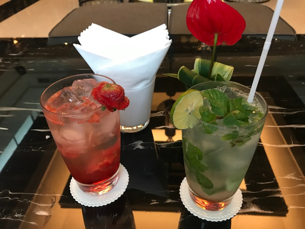 Cocktails at the Club Lounge Trans