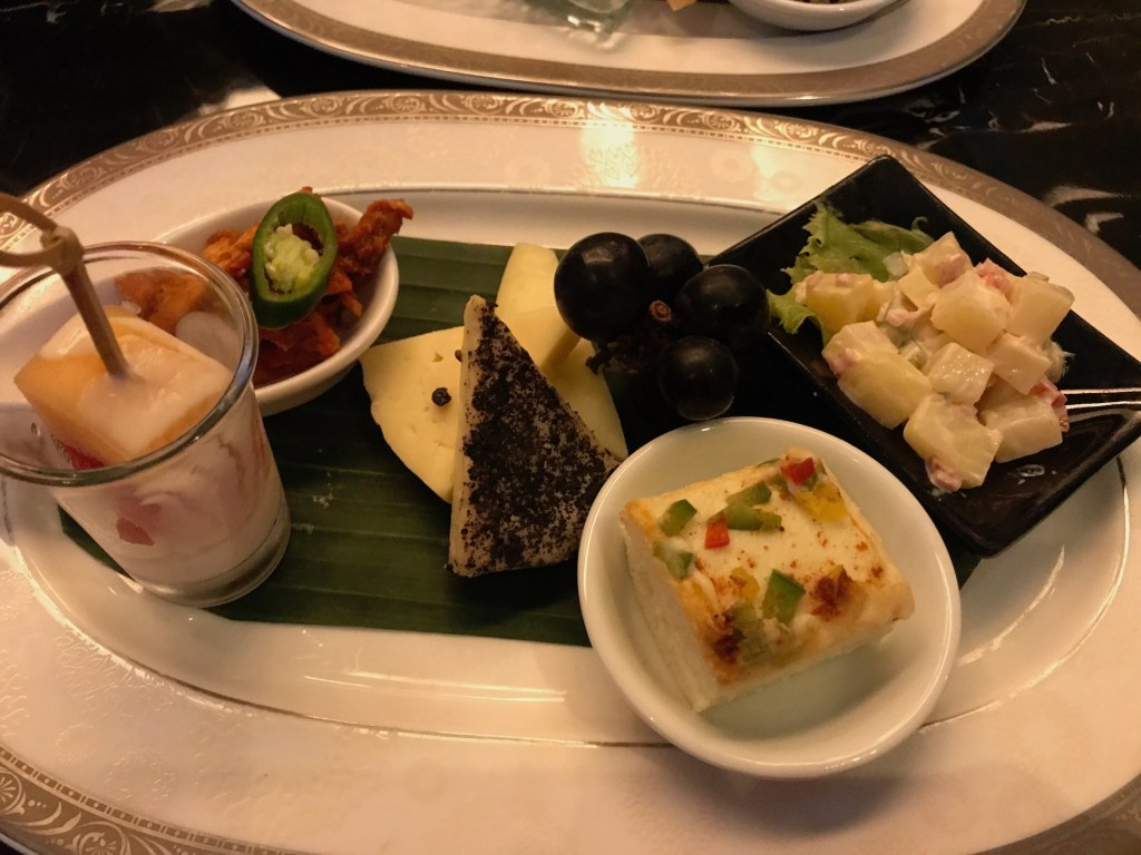 Nightly Canapes in the club Lounge at The Trans Resort