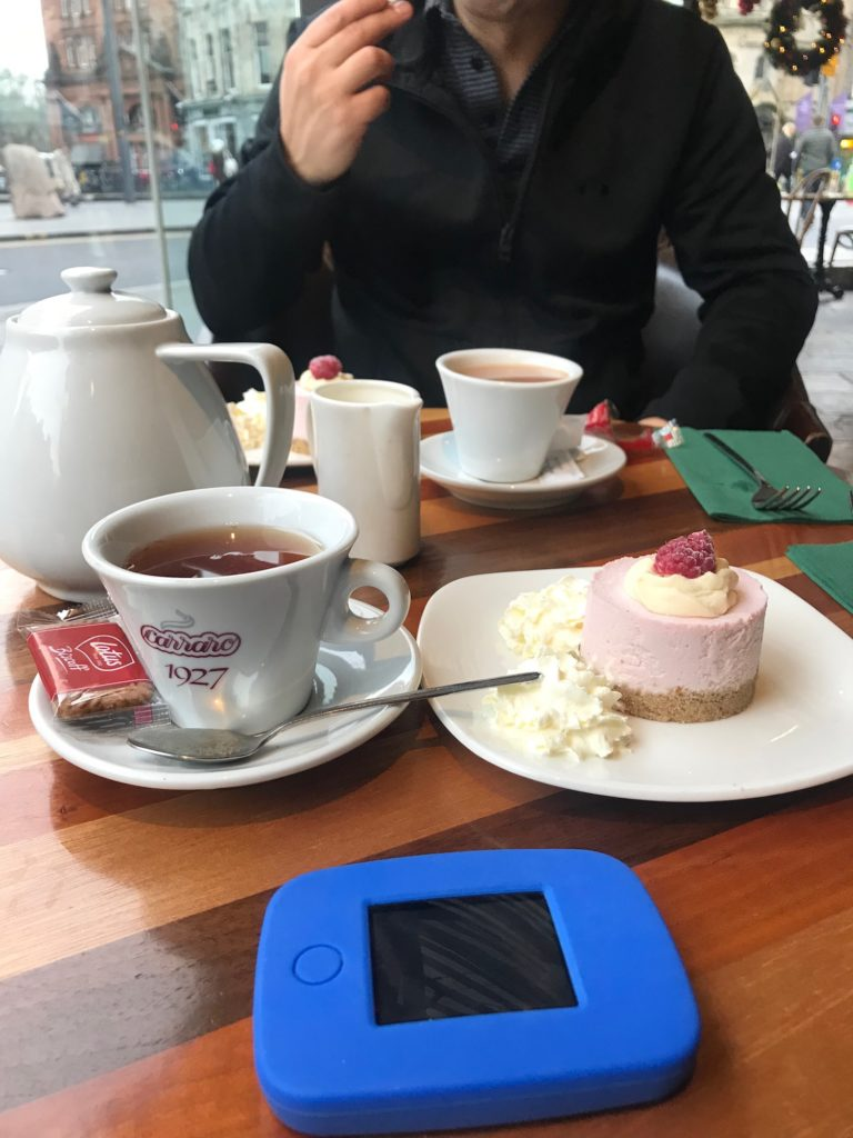 Using Tep Wireless portable Internet while traveling in Edinburgh