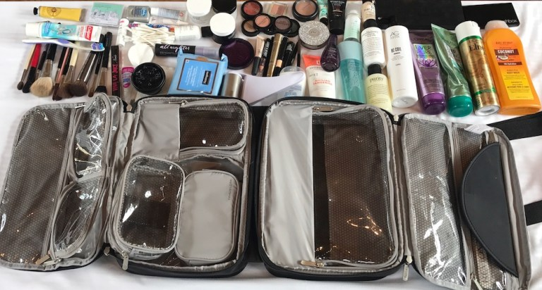 My Travelon Total Makeup Travel Bag holds all this