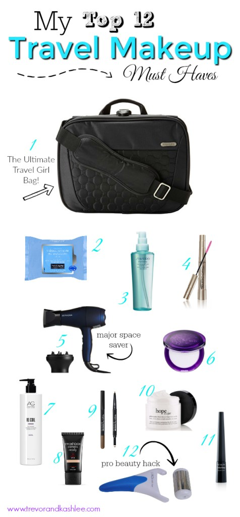 Travel Makeup - My top 12 beauty must haves for female travellers