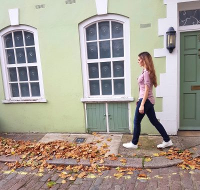 Colorful houses in Connaught Village London Kashlee Kucheran