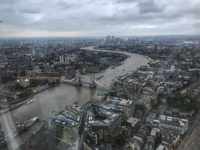 View from the Shard London