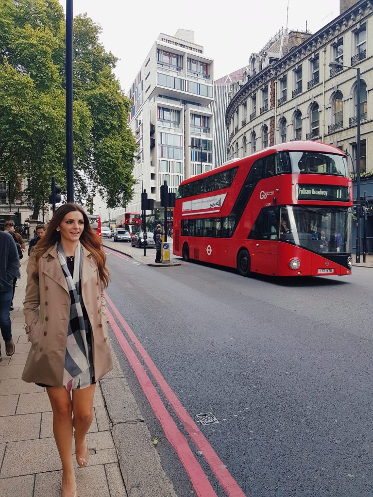 Kashlee in London with clothes from DUFL