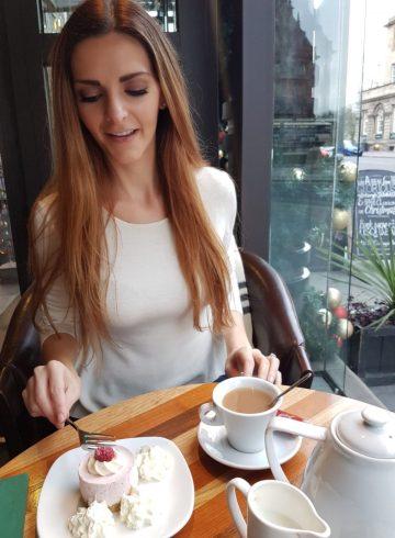 Kashlee Kucheran at cafe in Edinburgh