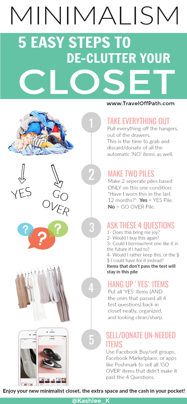 Declutter your Closet Minimalism and Downsizing How to Infographic