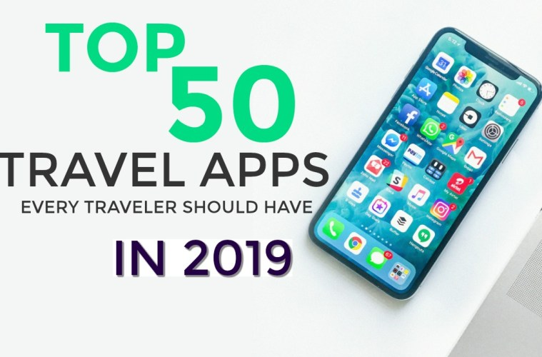 Top 50 Travel Apps of 2019