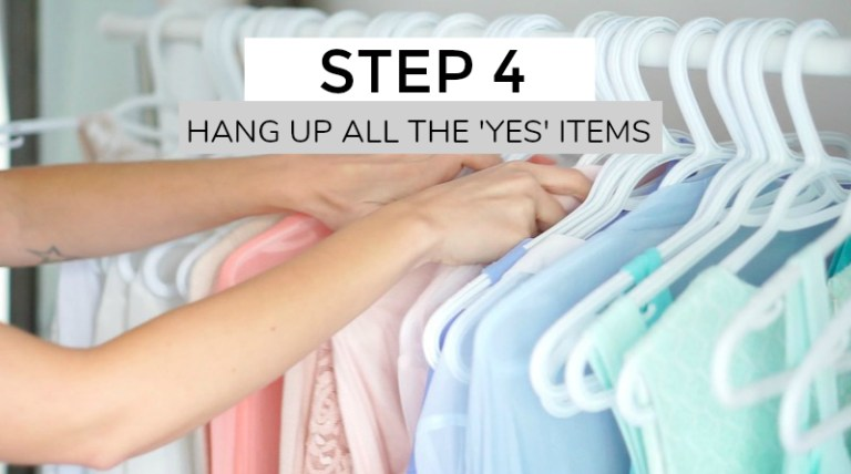 Organize closet by color
