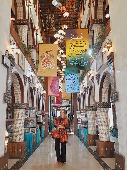 Kashlee kucheran in the souq waqif markets