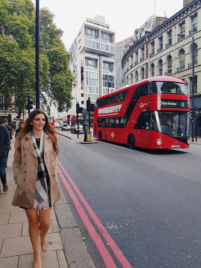 Kashlee Kucheran at Victoria Station Grosvenor Hotel in London