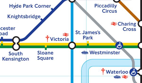 Victoria Station London Tube Map