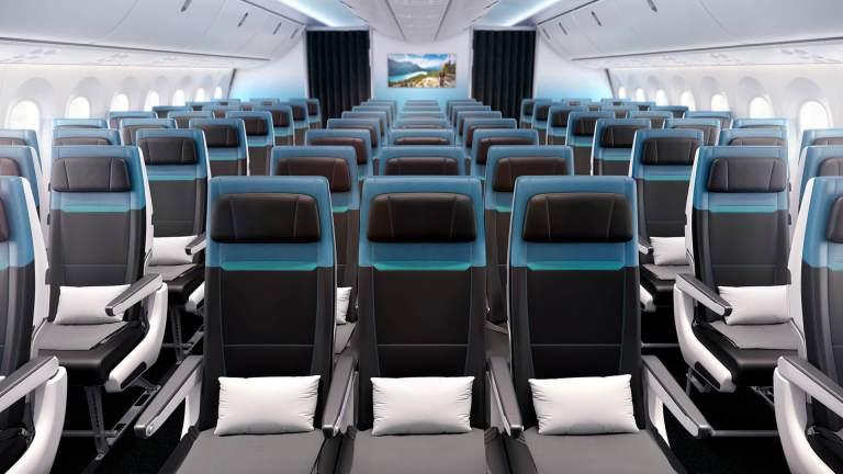 Westjet 787 Economy class interior