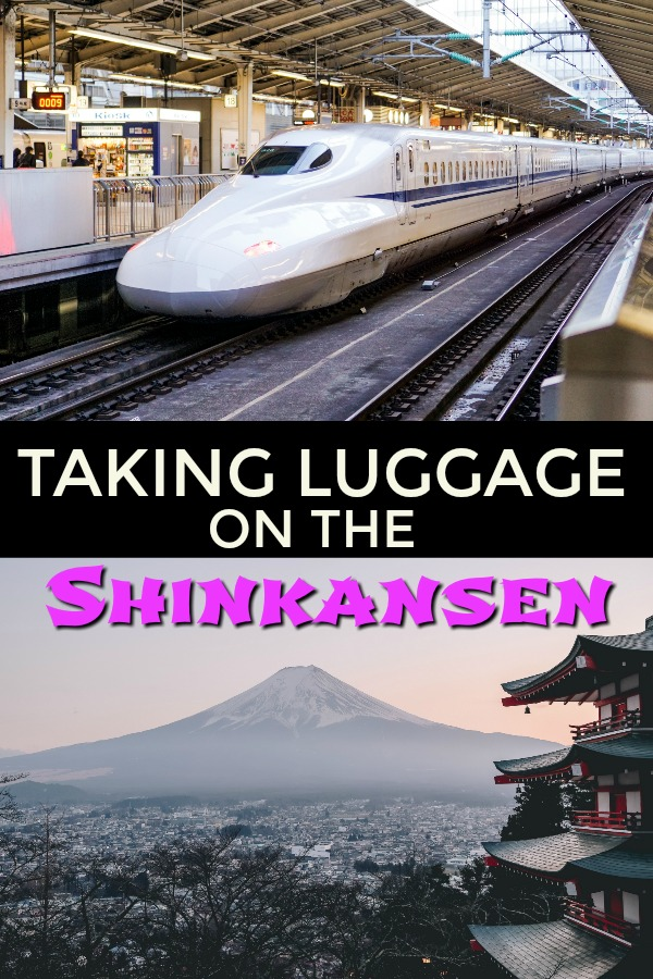 How to take luggage on the Shinkansen bullet train Japan
