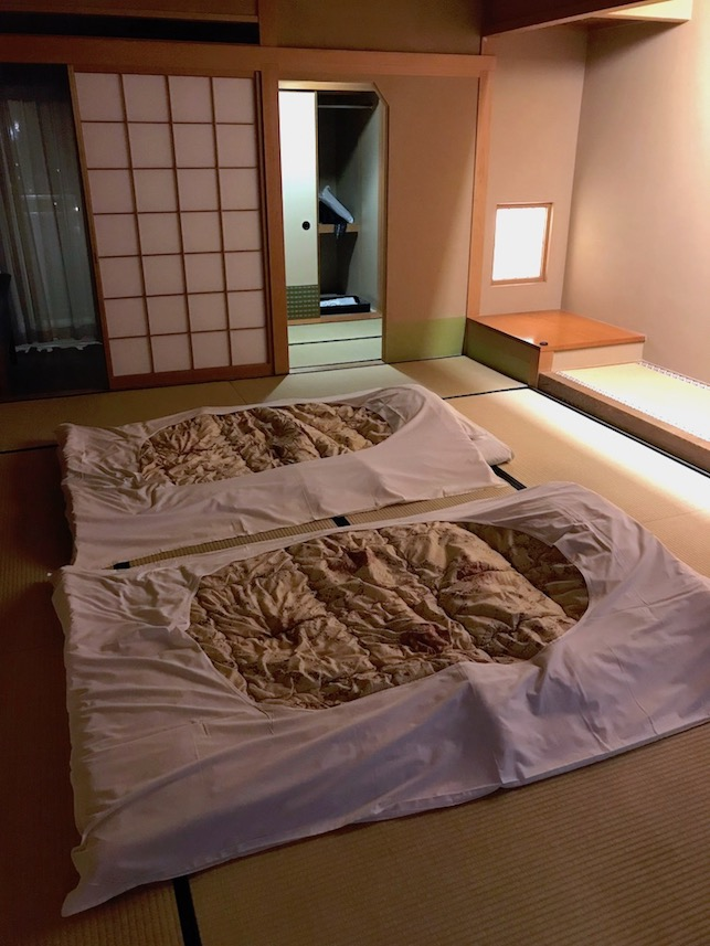 Futon Beds in Traditional Japanese Ryokan