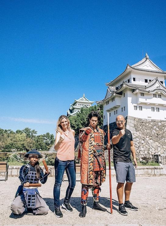 Samurai performance at Nagoya Castle Japan