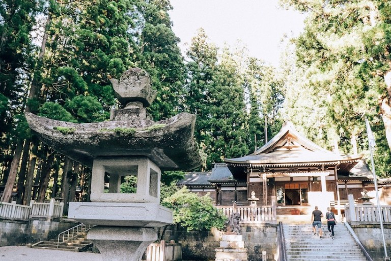 famous 'your name' anime shrine in Hida, Gifu Japan