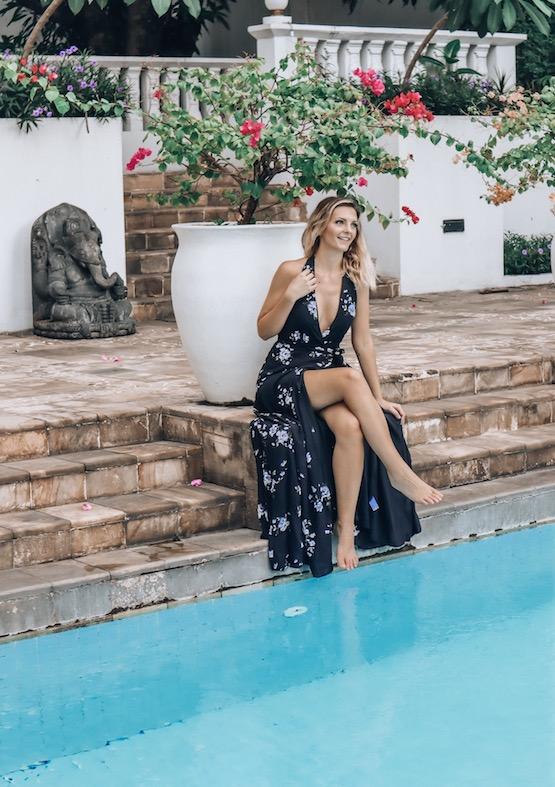 Kashlee Kucheran at the Majapahit spa and pool in Surabaya Indonesia