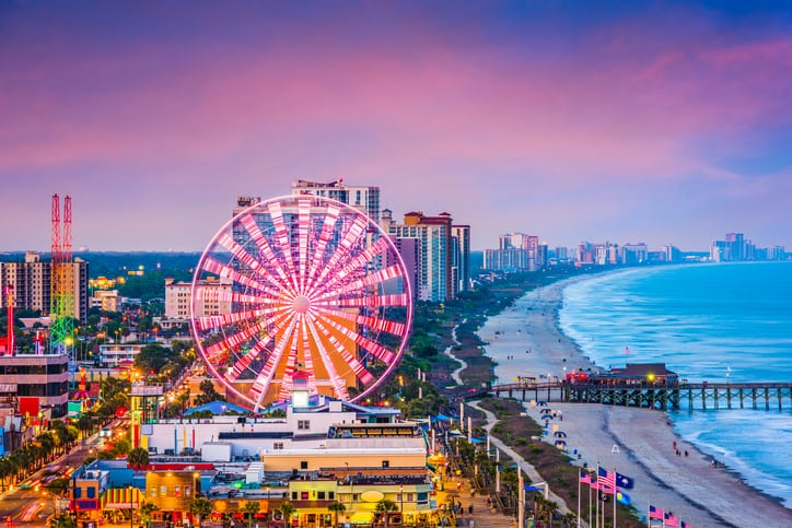 myrtle beach - cheapest places to travel in 2019