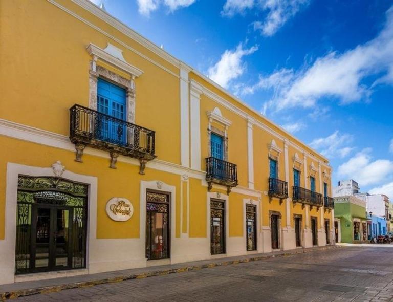 Plaza Colonial Campeche Mexico