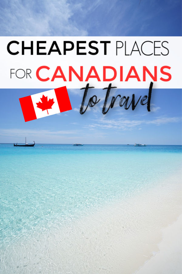 cheapest places for Canadians to fly to