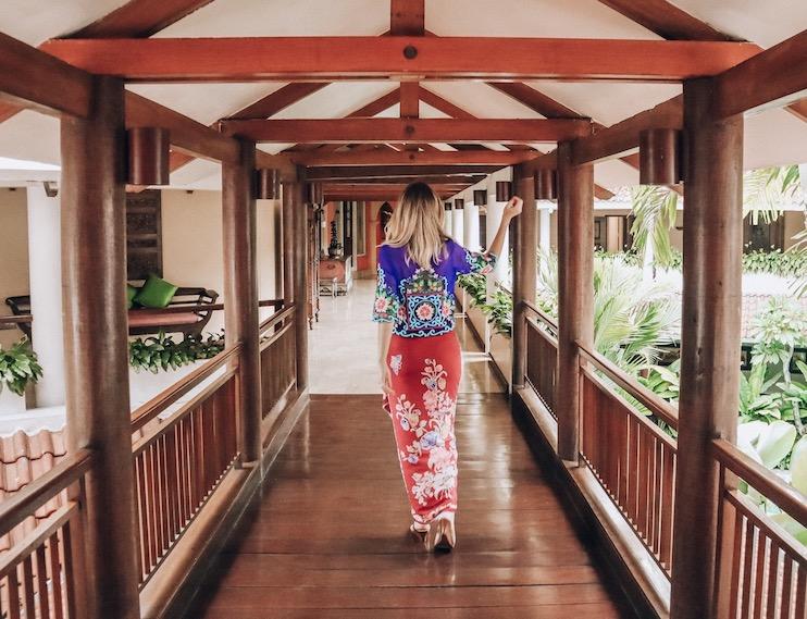 Kashlee Kucheran wearing Batik in Indonesia