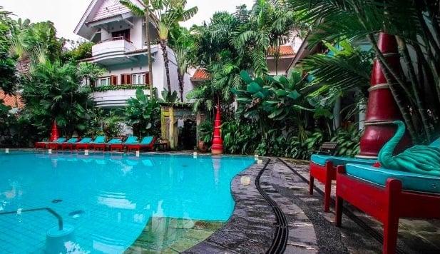 pool at tugu malang hotel in java