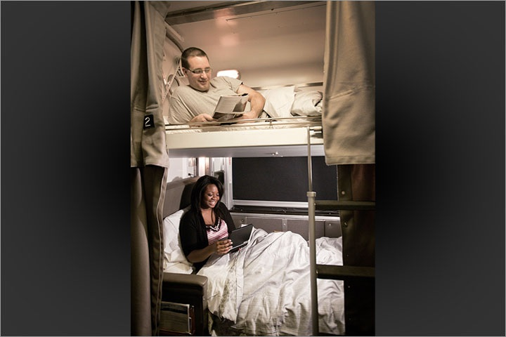 Upper and Lower berth on via rail across canada