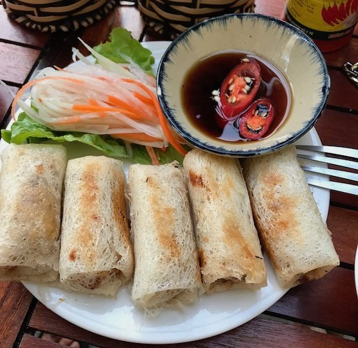 vegetarian spring roll hoi an