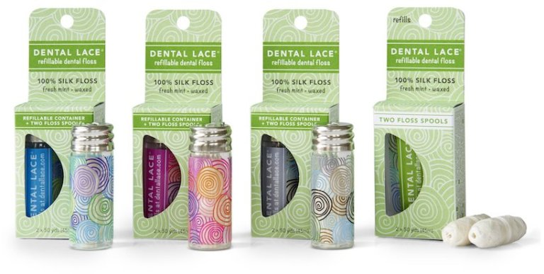 dental lace refillable glass jars